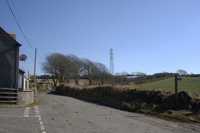 Country Road near Trevia Walls
