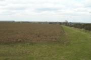 Farmland beside the A614