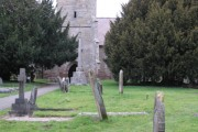 St Mary's church, Hampton Lovett  - tower & graveyard