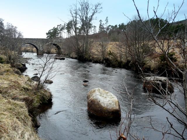 River Brora and the bridge at Dalreavoch