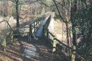 Footpath bridge over the Ardingly reservoir spur