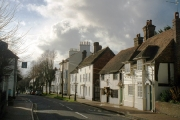 Lindfield High Street near the church