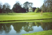 Stowe Landscape Gardens, Temple of Virtue across R. Styx