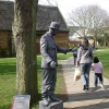 Living Statue in front of Tithe Barn, Wellingborough