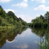 """River Wye at """"The Weir """" NT Gardens, near Kenchester"""