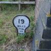 """Mile """"stone"""" at Stathern Bridge"""