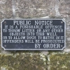 Notice In Berkswell's Well