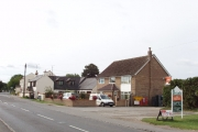 Longwick - residential and commercial buildings on A4129