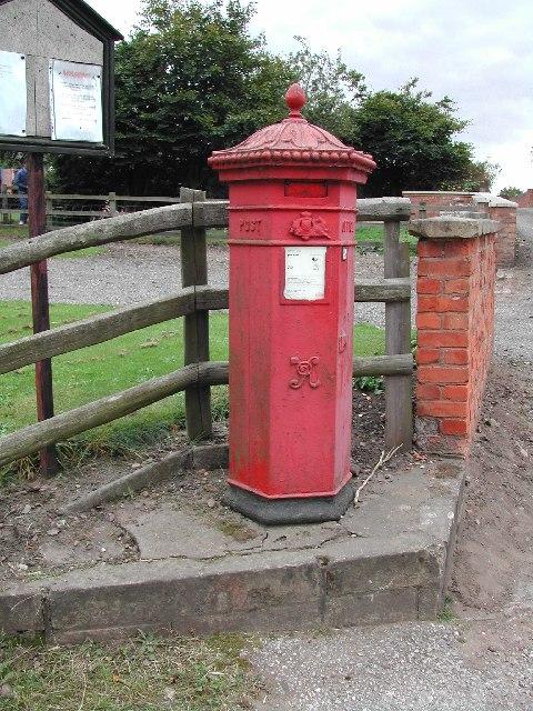 Victorian Pillar Box, Budby, Nottinghamshire