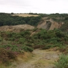 Spoil heaps near Wheal Alfred