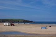 The beach at Harlyn Bay