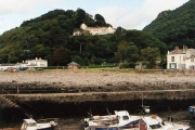 Lynmouth: the Tors Hotel from the harbour