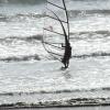 Windsurfer, very popular pastime.