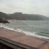 Bad weather at Babbacombe beach