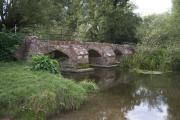 The old Packhorse Bridge