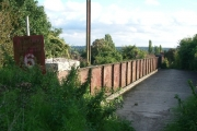 The bridge which carries White Road (a bridleway) over the railway near Brockham