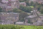 Hayfield village centre from the northeast