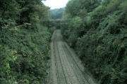 Railway line at Cwmrhydyceirw