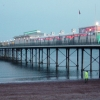 Paignton Pier at dusk, February 2003