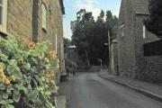 Looking up Church Lane, Stathern