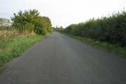 B-road off B4100 looking south-east