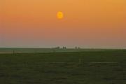 Moon over Avebury Fields