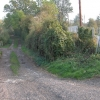 Track beside bridge over the railway near Stoke Edith