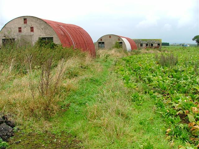 Huts by the side of the A61