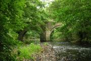 Sydenham Bridge over the River Lyd, nr Lifton, Devon