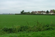 Farmland and houses in Ickleford.