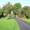 Cyclepath along old railway line