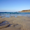 Whitesand Bay at low tide