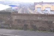 Bridge over railway into industrial area of Maryport.