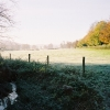 Frosty farmland and autumnal beeches