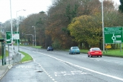 Approach to Derriford Roundabout