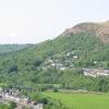 Gwaelod-y-garth from across the valley