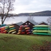 Gare Loch, canoes at Blairvadach