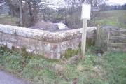 Walled bridge.