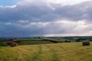 Cheriton Fitzpaine: rainclouds arriving from the south west