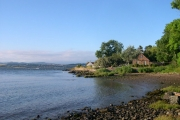 Looking east at Balmerino Pier