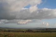 Loxbeare: south east towards Tiverton