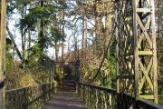 Footbridge at Crossford country park .