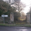Gateway at NW corner of Forcett Park near Richmond, North Yorkshire
