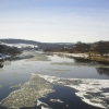 Wintry River Dee from Bridge of Dee