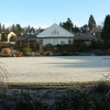 Frosty lawn in front of the Rodney Pavilion