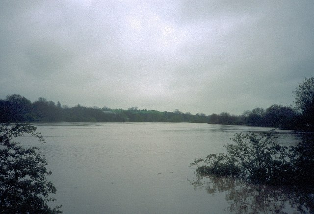 Willes Road meadow in flood