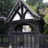 The Lychgate entrance to Badgeworth church