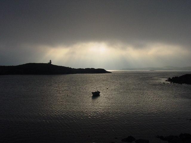 Evening light at Hamnavoe