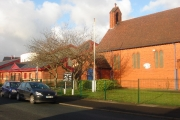 St. George's church, Atherton and medical centre.