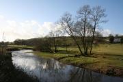 Bradninch: the Culm at Baulk Bridge